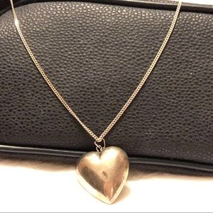 Vintage Sterling Silver 925 chain heart pendant